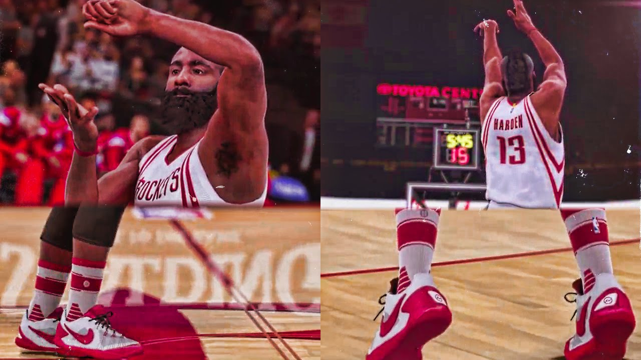 NBA 2K16 - Official James Harden Stance Socks, Shoes, Celebration, and  Jumper Trailer and Gameplay - YouTube