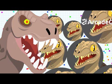 Agar.io Jurassic World T-Rex vs Raptors in Agario Server - Agario Live Stream