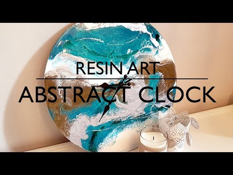 Resin art - Abstract clock