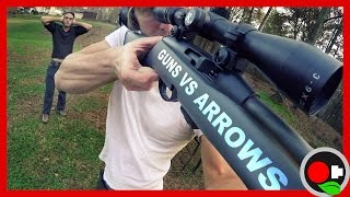 BULLETS vs ARROWS in a Car Door and Water Balloons