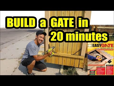 D.I.Y. wooden Gate in 20 minutes with Homax Easy Gate Kit