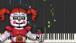 Join Us For A Bite - FNAF Sister Location - JT Machinima (Piano Tutorial) [Synthesia]