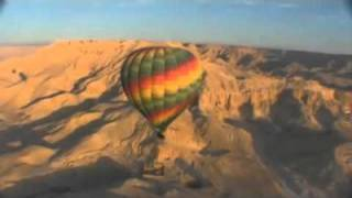 Balloons float above the Valley of the Kings , get aboard a Hot air balloon one early morning outside of Luxor Thumbnail