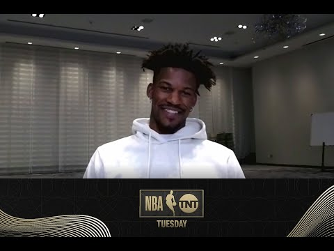 Jimmy Butler Catches Up with His Old Teammate Dwyane Wade on NBA on TNT Tuesday