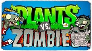 НОЧНАЯ АТАКА ЗОМБИ - PLANTS VS ZOMBIES