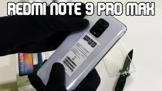 REDMI NOTE 9 PRO MAX ( GLACIER WHITE ) UNBOXING | 4K VIDEO