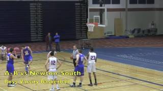 Acton Boxborough Varsity Boys Basketball vs Newton South 1/20/12