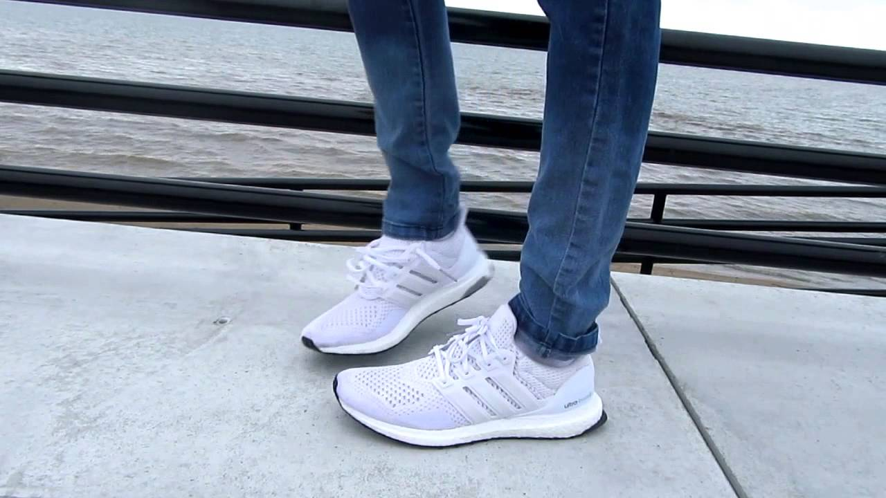 Ultra Boost. White On Foot/Outfit