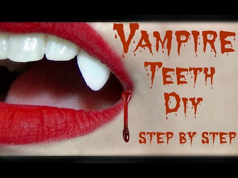 DIY Vampire Fangs Tutorial / LAST MINUTE HALLOWEEN IDEAS