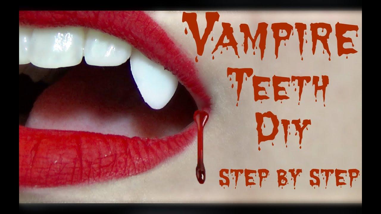 how to make vampire fangs easy for kids