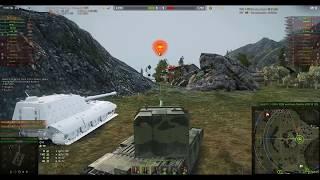 World of Tanks Бой FV 4005 не чего вытащили правда с развороту не попал