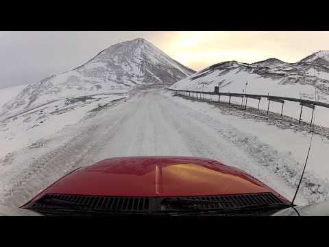 Driving from Scott Base to McMurdo Station