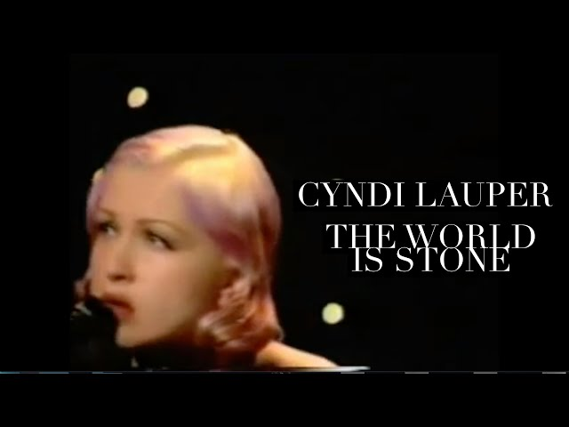 Cyndi Lauper – The World Is Stone (live on UK TV)