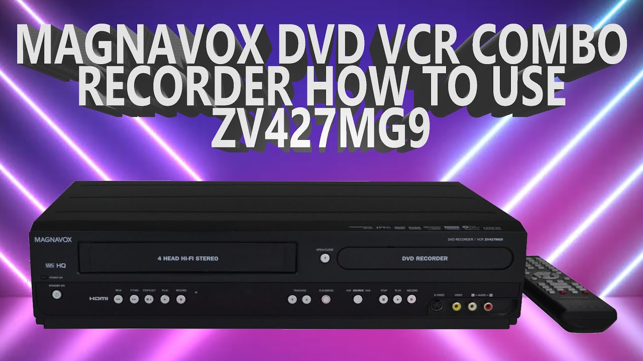 How To Record Vhs To Dvd A Using Panasonic Dvd Vcr Combo 2 In 1 Player Recorder Dmr E75v Youtube