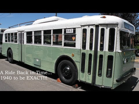 START OF AN ERA!!! Seattle Transit System 1940 Twin Coach 40GWFT ETB 643