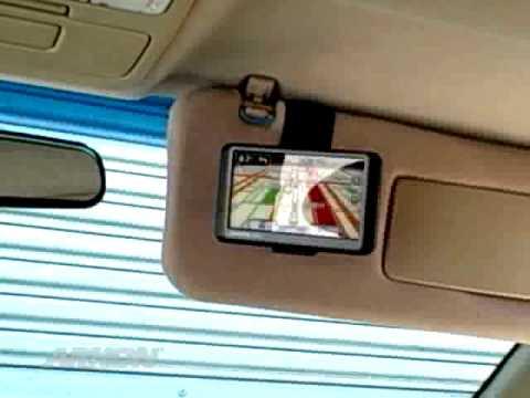 Car Backup Camera >> Garmin Nuvi 50LM, 50, 54 LM, 40 GPS Sun Visor Mount Sun Visor Car Mount | ARKON GN111 - YouTube