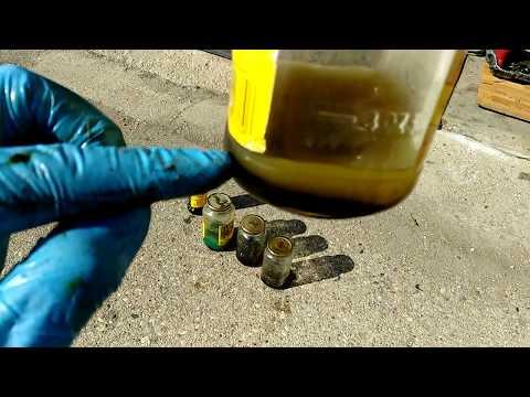 Dissolving Mobil 1 EP sludge test.