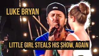 "Luke Bryan Brings Girl On Stage for ""Someone Else Calling You Baby"""