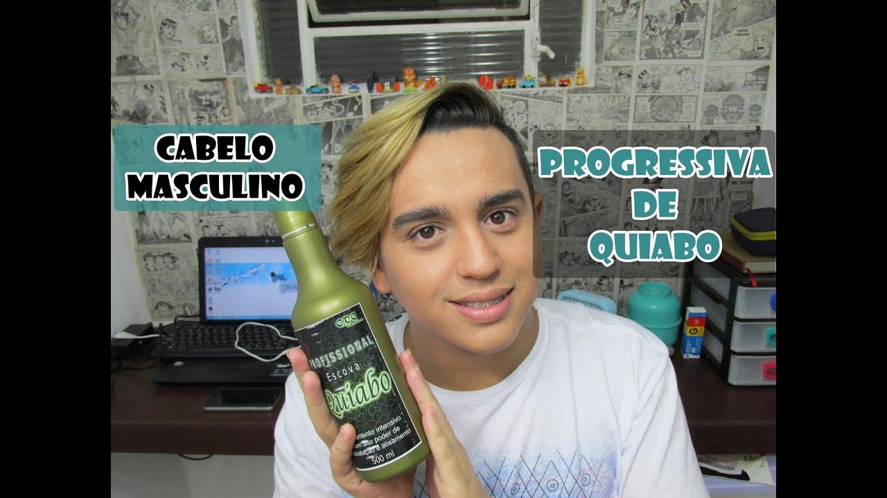 Progressiva de Quiabo - Cabelo Masculino - 100% Liso - YouTube