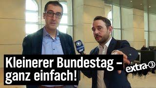 Reporter Jakob Leube im Bundestag: Gescheiterte Wahlrechtsreform | extra 3 | NDR