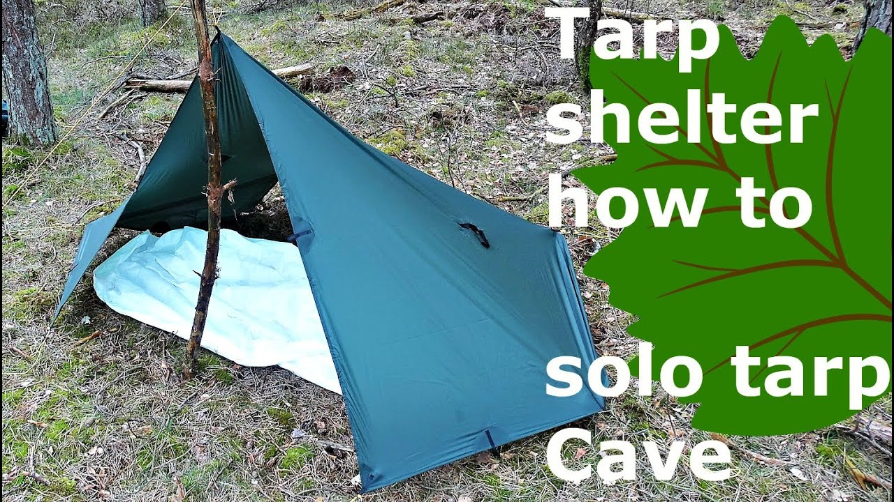 tarp shelter how to: cave with a solo rectangular tarp ...