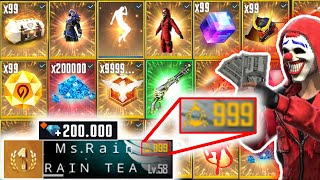 Spending 200.000!! Diamonds 😱 in Free Fire - look how it became🔥