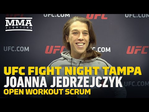 UFC Tampa: Joanna Jedrzejczyk Open Workout Scrum - MMA Fighting