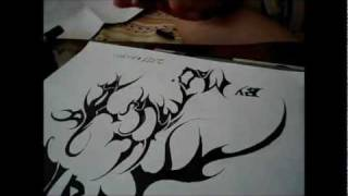 Awesome Tribal Drawing with Marker - Matin Poorsadeghi Drawings