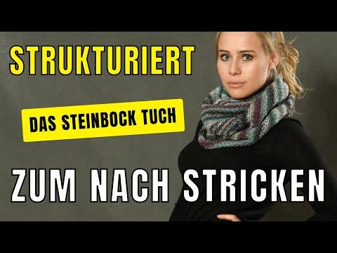 Sternzeichentücher stricken - Das Steinbock Tuch