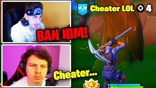 STREAMERS * CHOCADO * NO TRAPACEIRO NO TORNEIO! (TFUE EXPLOIT) | Battle Royale do Fortnite