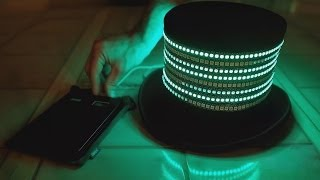 704 LEDs! - The All Seeing Eye - RGB Led abstract Top Hat