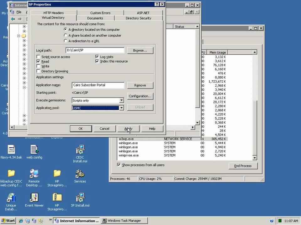 Generate csr for iis 6 windows server 2003.