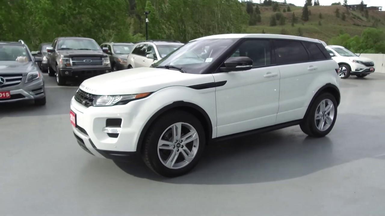 Land Rover Kelowna >> 2013 Land Rover Range Rover Evoque Dynamic Premium Harmony Honda White U6382 Kelowna Bc