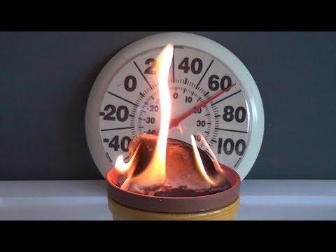 Emergency heater using household items.