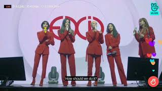EXID singing I LOVE YOU as CD on live