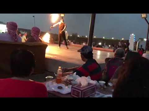 Dubai Desert Camp Fire Show Part 2