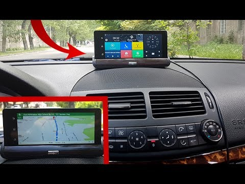 "Dashboard Camera Android 5 1080P Dual Camera and GPS, 7 ""IPS screen Bluetooth 3G / Detailed review"