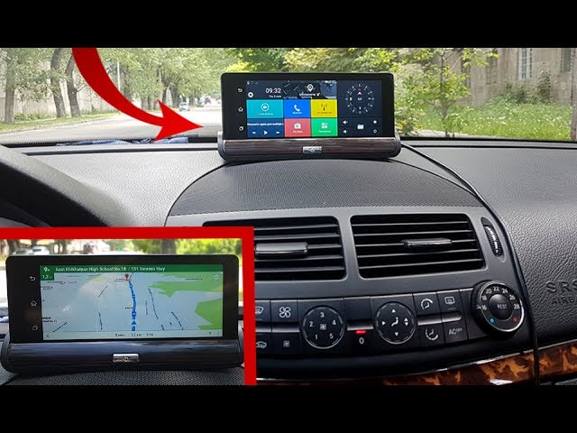 Dashboard Camera Android 1080P Dual Camera and GPS, 7 IPS screen Bluetooth 3G / Detailed review