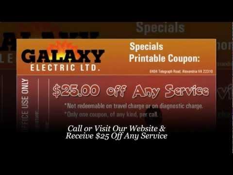 Electrician Herndon VA - Receive $25 Coupon: Galaxy Electric (703) 471-0110