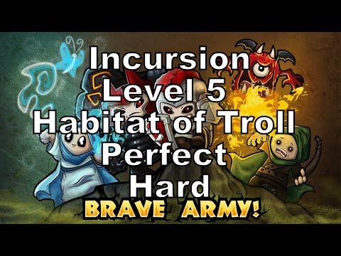 How To Games - Incursion Level 5 Habitat of Troll Perfect Hard Walkthrough Tower Defense Game |