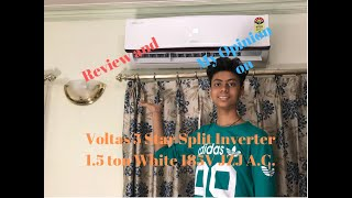 Review and My Opinion on Voltas 5 Star Split Inverter 1.5 ton White 185V JZJ A.C.