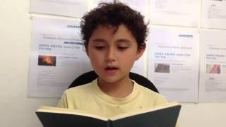 "James Reads ""While Asters-"" By Emily Dickinson"""
