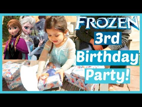 Alondra's 3rd Frozen Birthday Party + Present Opening! | January 5, 2018