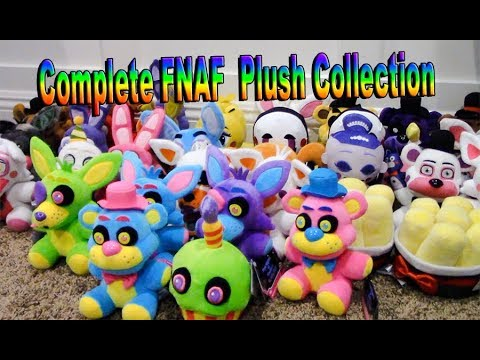 My Complete FNAF Plush Collection ( NEW FUNKO BLACKLIGHT PLUSHIES! )
