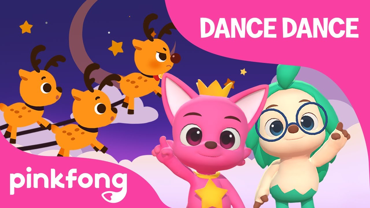 The Red Nosed Reindeer Rudolph | Christmas Carol | Dance Dance | Pinkfong Songs for Children