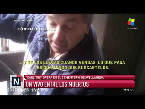 Un vivo entre los muertos en el cementerio de Avellaneda