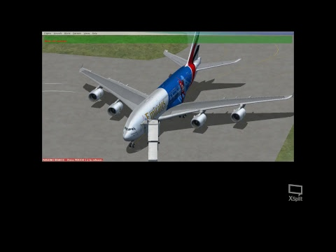 FSX EMIRATES A380 JAKARTA TO SINGAPORE REAL WEATHER