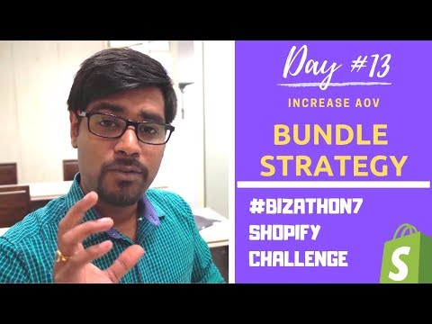 Day #13: Get 2x More Revenue Instantly Using Bundles For Shopify Dropshipping