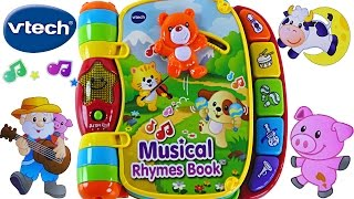 Musical Rhymes Book VTech Learn 40+ Songs Teaching Colors Nursery Rhymes! Toddler Toys