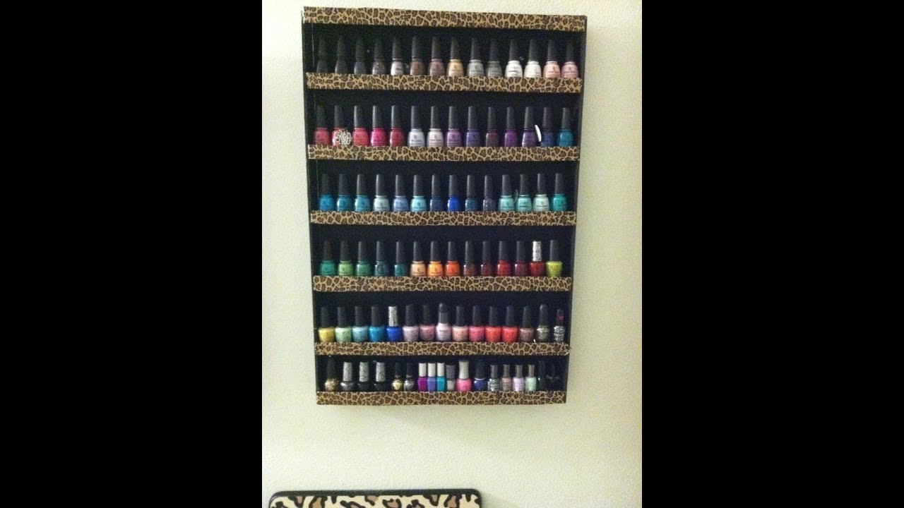 DIY: Nail Polish Wall Rack - YouTube